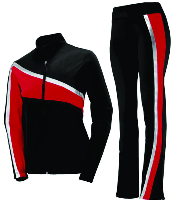 Black, Red, Silver