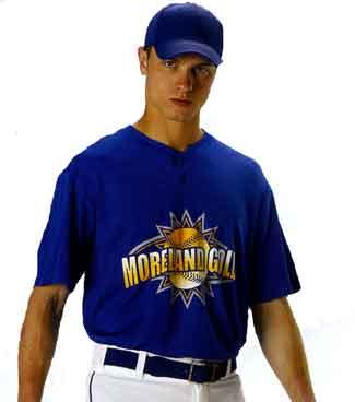 Alleson 2 Button Henley Baseball Jersey 522MM