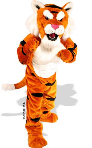 Power Tiger Mascot Costume 636