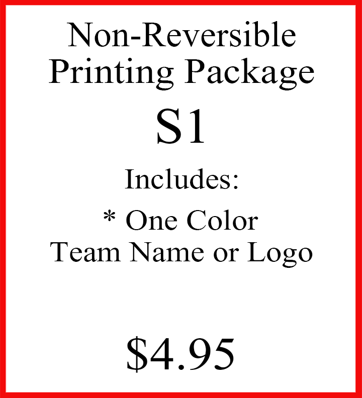 Non-Reversible Printing Package S1