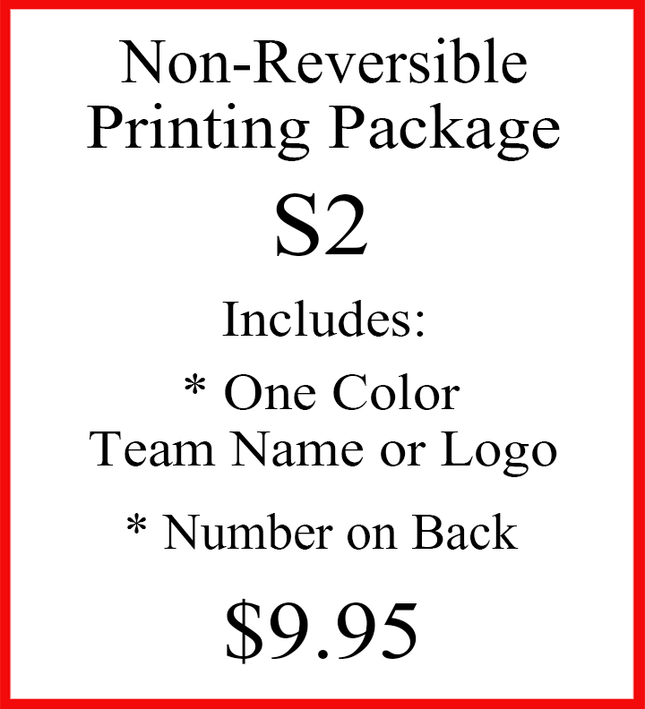 Non-Reversible Printing Package S2