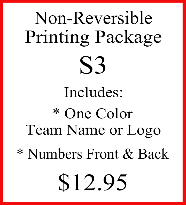 Non-Reversible Printing Package S3