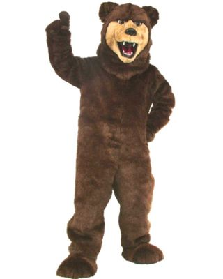 New Grizzly Bear Mascot Costume 606